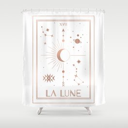 La Lune or The Moon White Edition Shower Curtain