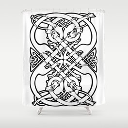 Celtic dogs 1 Shower Curtain
