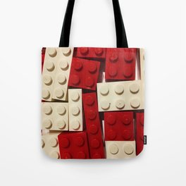Red and White Legos Tote Bag