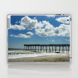 Silhouetted pier Laptop & iPad Skin