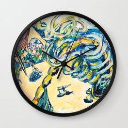 X voYages de Zed (toile 16 - série 1) Wall Clock