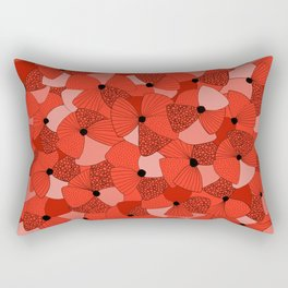 Red Poppies Rectangular Pillow