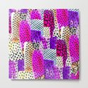 Modern pink watercolor abstract geometric hand painted pattern by girlytrend
