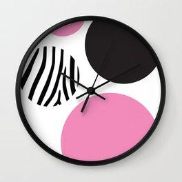 Pink zebra Wall Clock