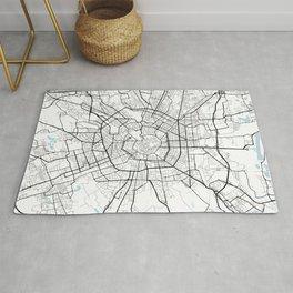 Milan City Map of Italy - Circle Rug