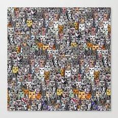Gemstone Cats - Gold Canvas Print