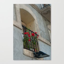 Barcelona Balcony Canvas Print