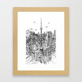 Toronto! (version #2) Framed Art Print
