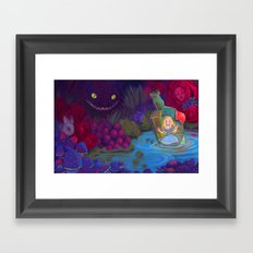Alice in the Bottle Framed Art Print