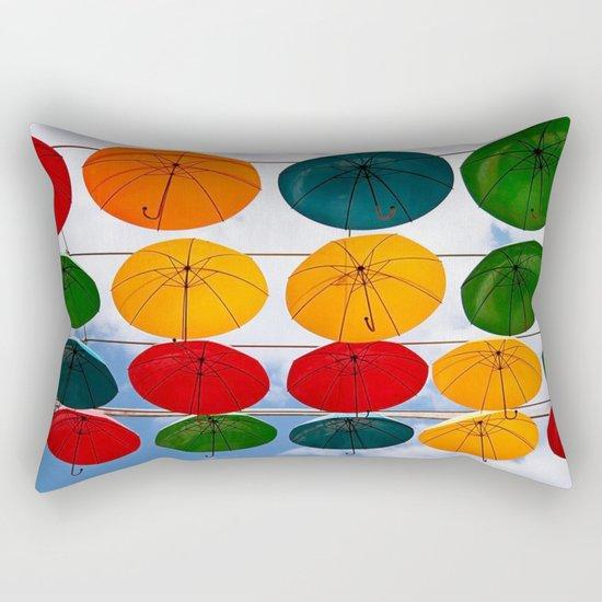colorful umbrella Rectangular Pillow