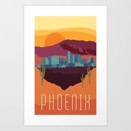 City Series - #Phoenix #Arizona #Travel #Poster Art Print