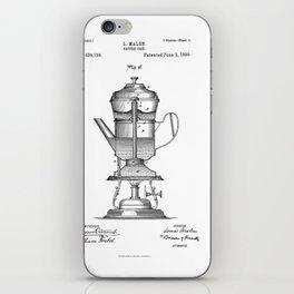 Vintage Print Coffee Urn iPhone Skin