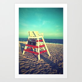 Cape May Lifeguard Stand Art Print