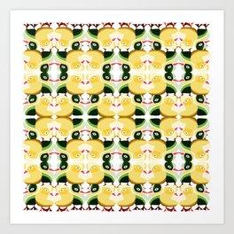 Pato Amarillo Art Print