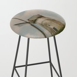 A mill in rural The Netherlands Bar Stool