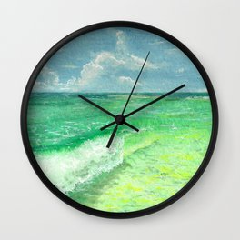 Sunny Wave Wall Clock
