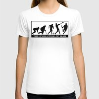 lacrosse T-shirts featuring Lacrosse Evolution Of Man by YouGotThat.com
