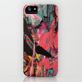 Bold Mark Making in Acrylic - Fifth in Series iPhone Case
