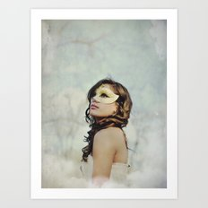 Masquerade in the Clouds Art Print