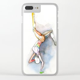 Level, female ballet dancer, NYC artist Clear iPhone Case