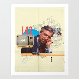 Mr. Rogers 143 Art Print
