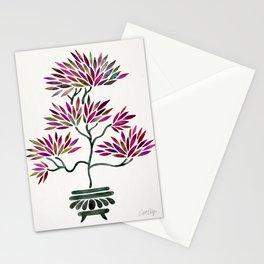 Bonsai Tree – Fuchsia Palette Stationery Cards