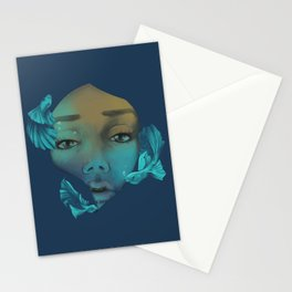 Overwhelmed Stationery Cards