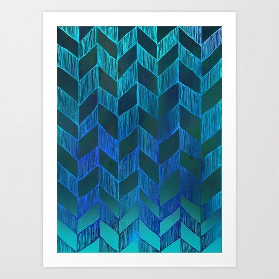 PATTERN {Chevron 013} Art Print