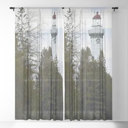 Lighthouse Tower Sheer Curtain