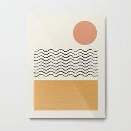 Sun Wave Beach - Abstract Metal Print