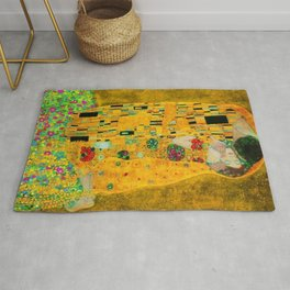Gustav Klimt The Kiss Painting Rug