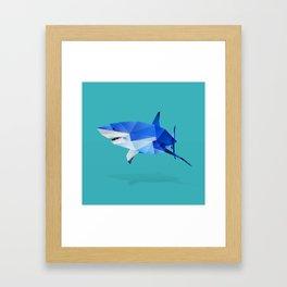 Great White. Framed Art Print