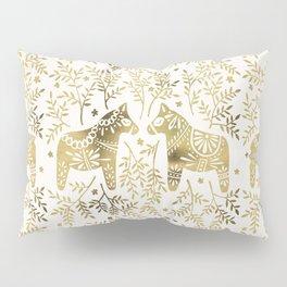 Swedish Dala Horses – Gold Palette Kissenbezug