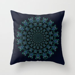 Tribal Turtle Tunnel Throw Pillow