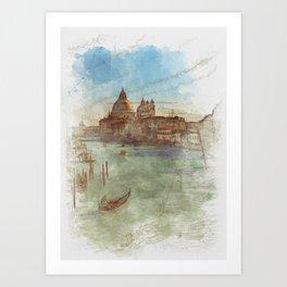 Venezia Canal Grande - SKETCH Art Print