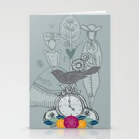 folk Stationery Cards featuring Folk by karyn johnstone
