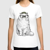 persian T-shirts featuring Hipster Persian Cat by Huebucket