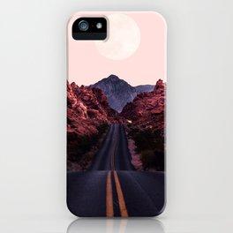 Road Red Moonrise iPhone Case