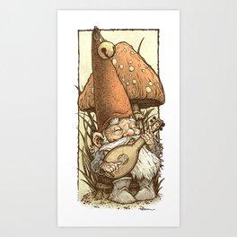 Gnome Minstrel Art Print