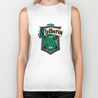 slytherin Biker Tanks featuring Slytherin by Zeynep Aktaş