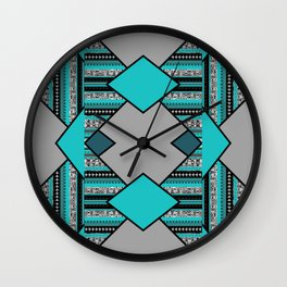 Geometric triangel pattern Design Wall Clock