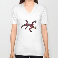lizard V-neck T-shirts featuring Lizard by Sproot