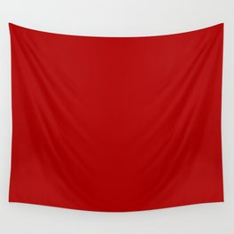 Chili Pepper Red - Solid Color Collection Wall Tapestry