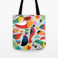 kitchen Tote Bags featuring Still life from god's kitchen by Picomodi