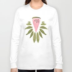 Watermelon and Leaves Long Sleeve T-shirt
