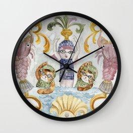 École des Sirènes - Mermaid School Wall Clock