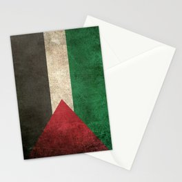 Old and Worn Distressed Vintage Flag of Palestine Stationery Cards