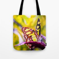 malachite Tote Bags featuring Malachite by Cathy Donohoue