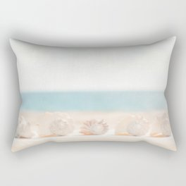 5 Conch Shells Rectangular Pillow