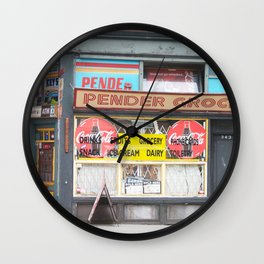 Pender Grocery Wall Clock